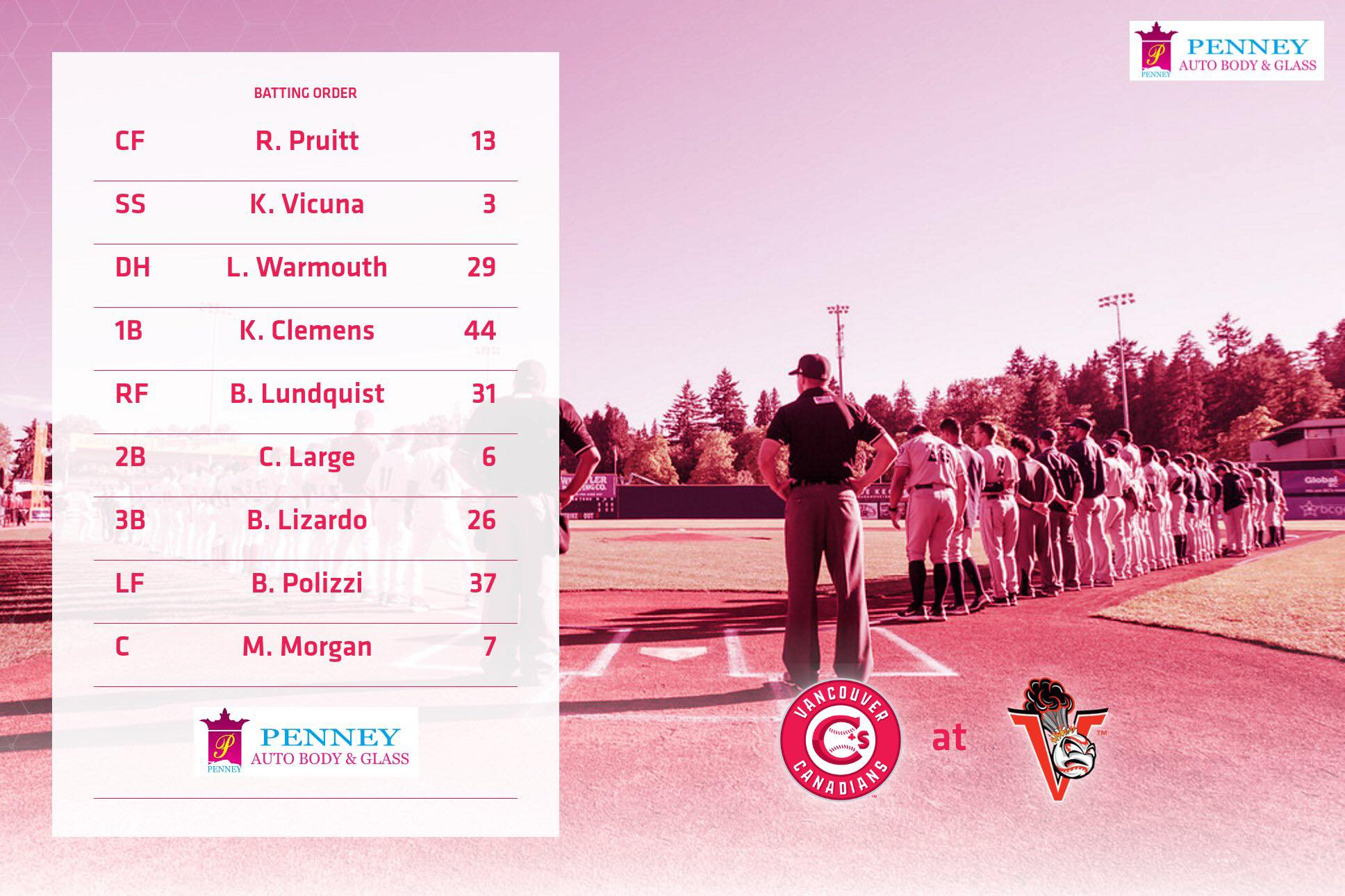 Vancouver-canadians-todays-lineup
