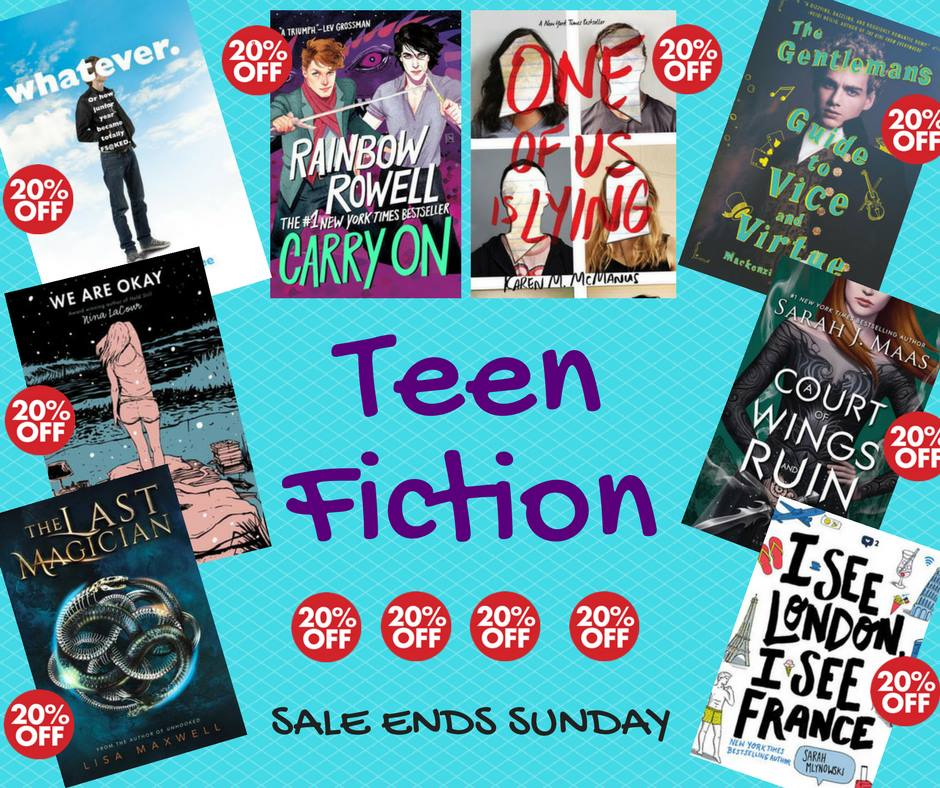 Teen-fiction-sale