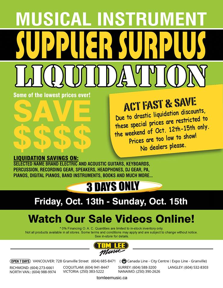 Tom-lee-music-supplier-surplus-sale