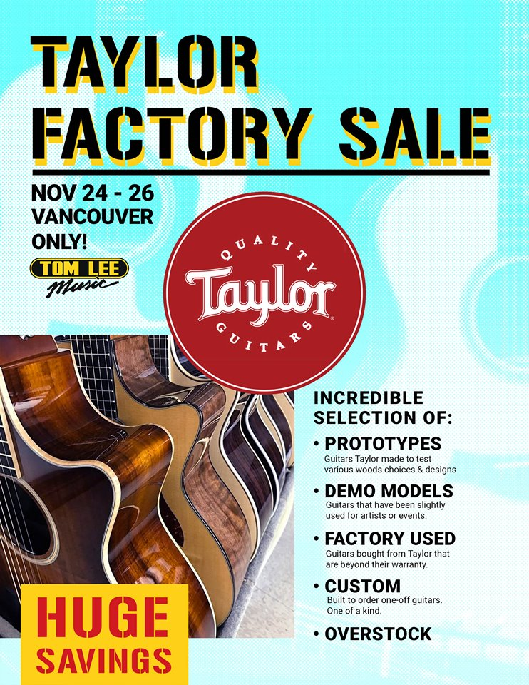 Tom-lee-music-taylor-factory-sale