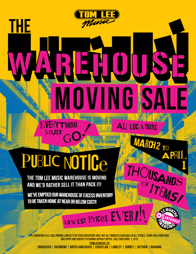 Tom-lee-music-warehouse-moving-sale