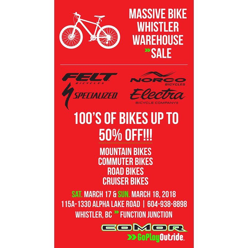 Comor-bike-warehouse-sale