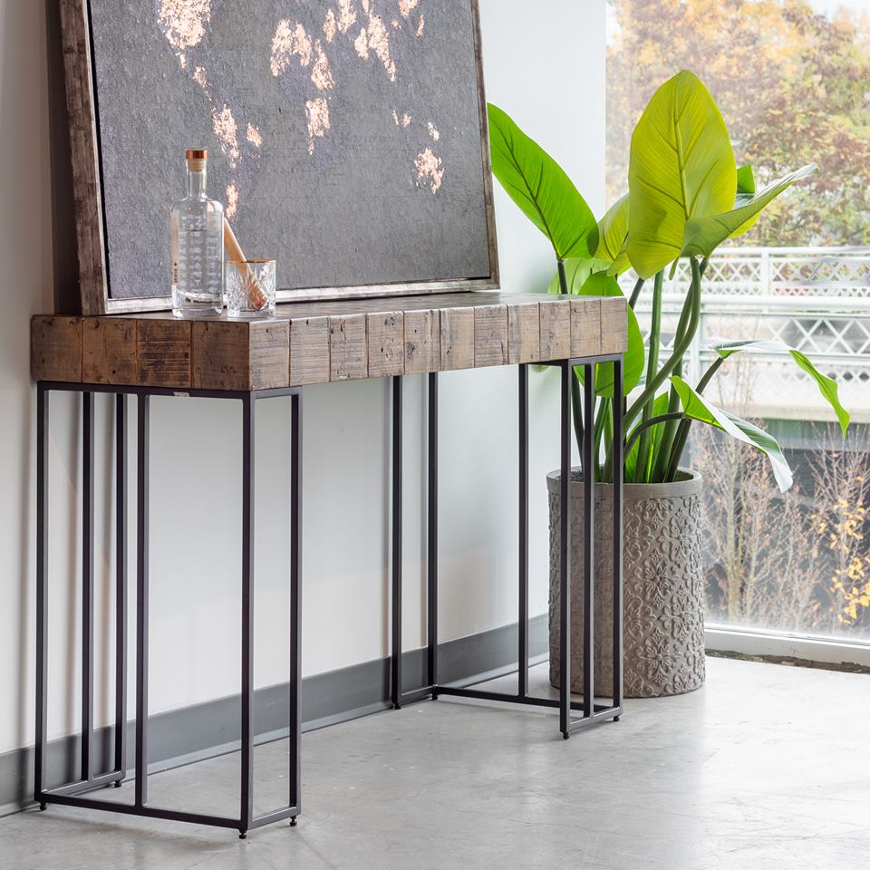 Crosscut-console-table