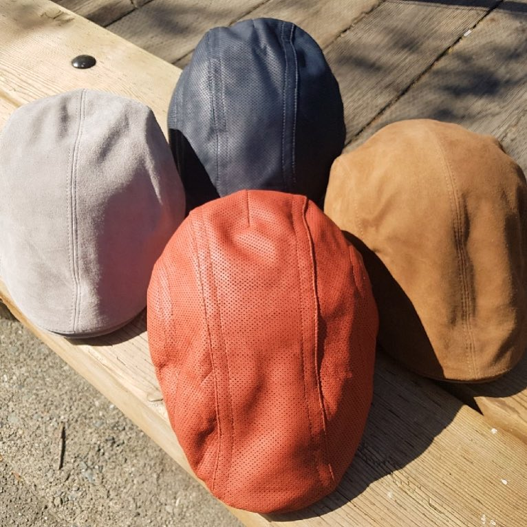 Suede-leather-hats