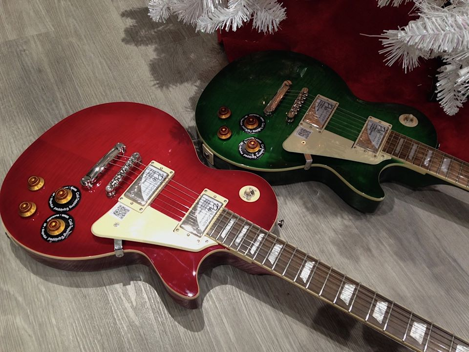 Red-green-epiphone-gibson