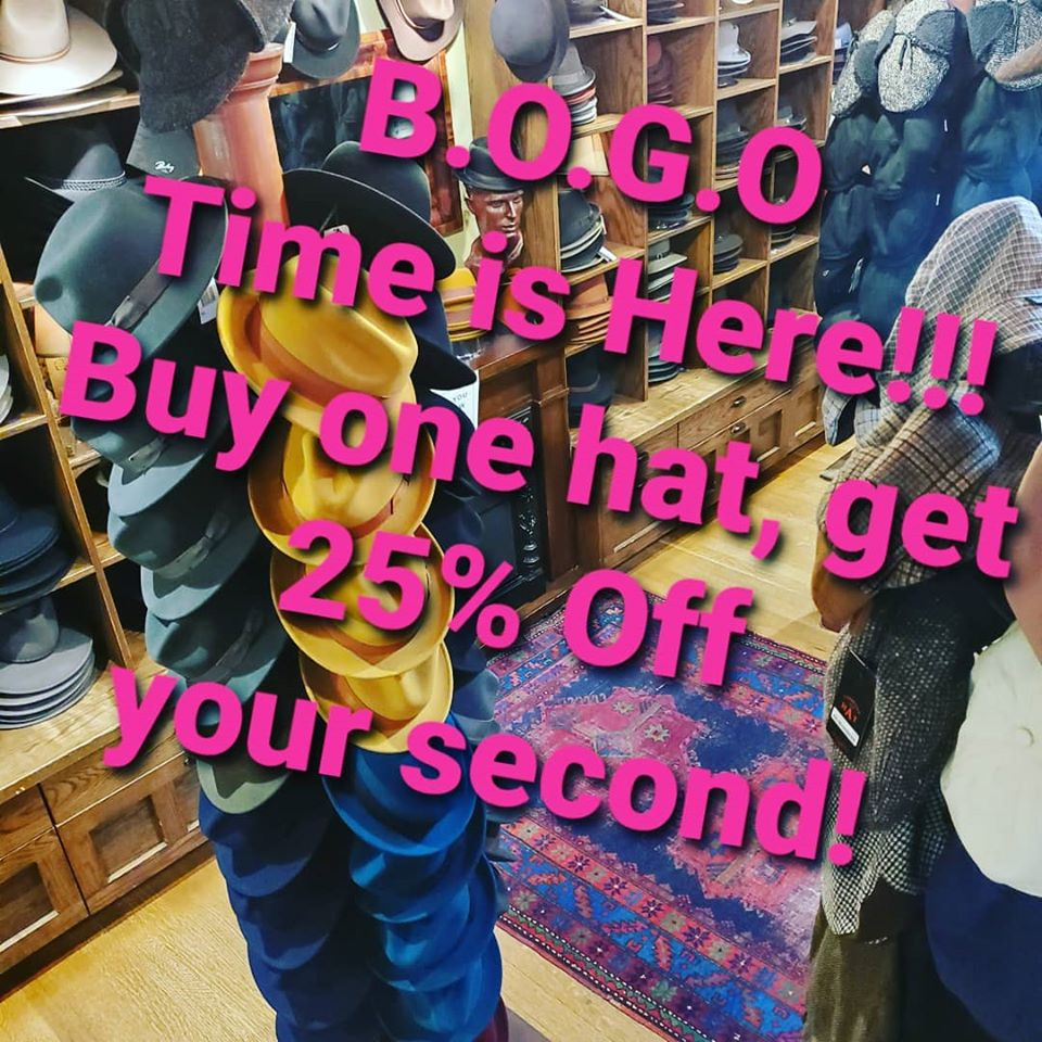 Bogo-hat-sale