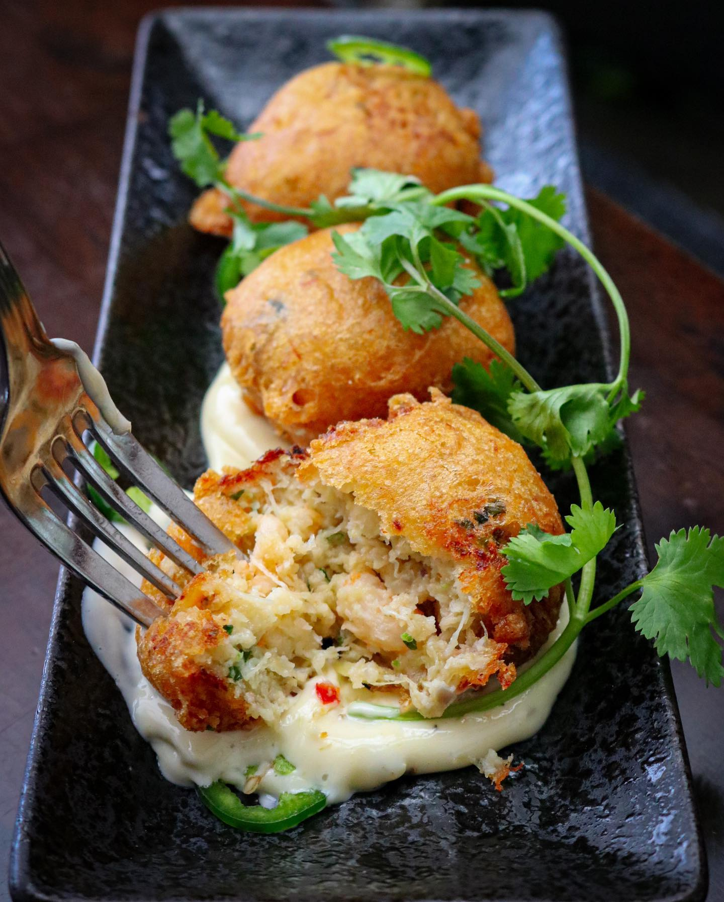 Crab-fritters